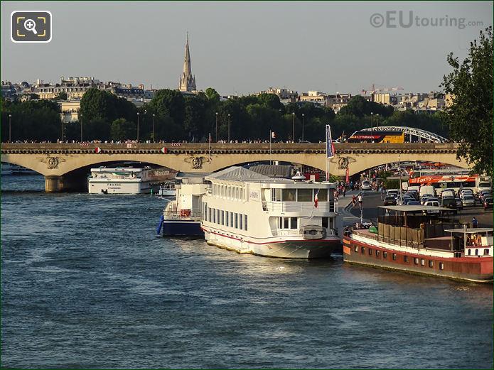 River Seine And Pont d'Iena