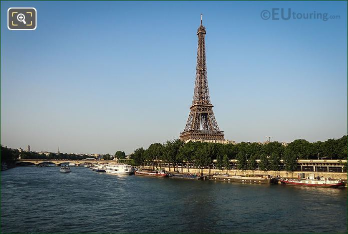 The River Seine With The Eiffel Tower