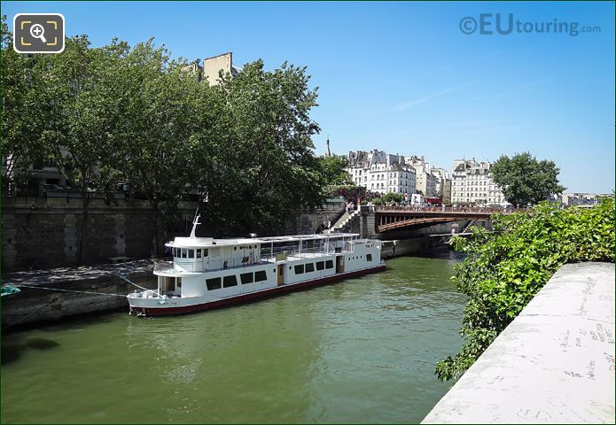 Bateau Ivre Restaurant Boat Moored On River Seine