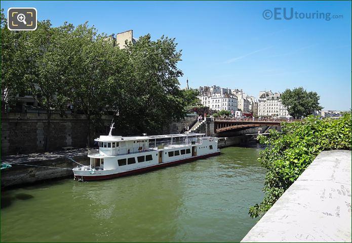 Bateau Ivre Restaurant Boat Moored On River Seine