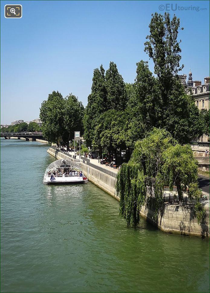 Batobus Boat On The River Seine Paris