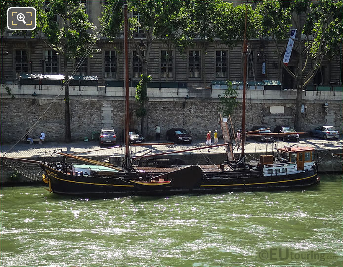 River Seine And Marie-Jeanne Yacht