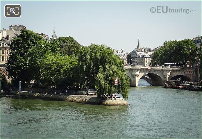 River Seine And Eastern End Ile De La Cite