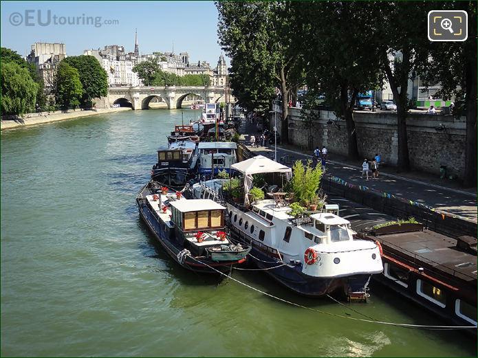 River Seine Quai De Conti Houseboats