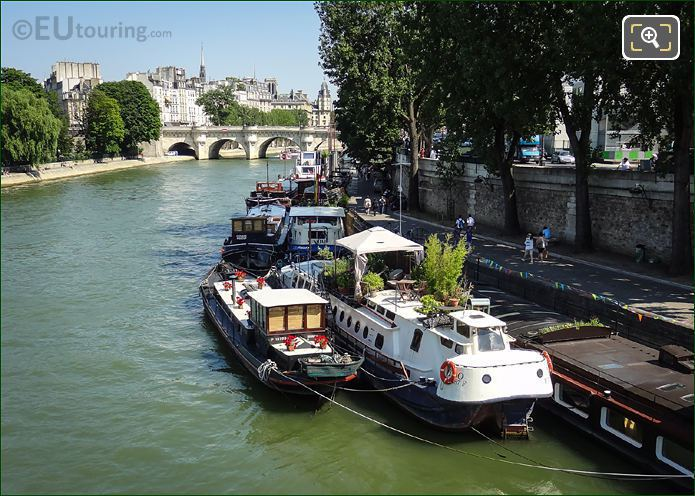 House Boats On The River Seine