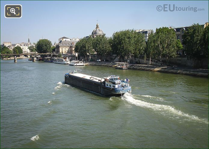 Port Des Saint Peres And River Seine Paris