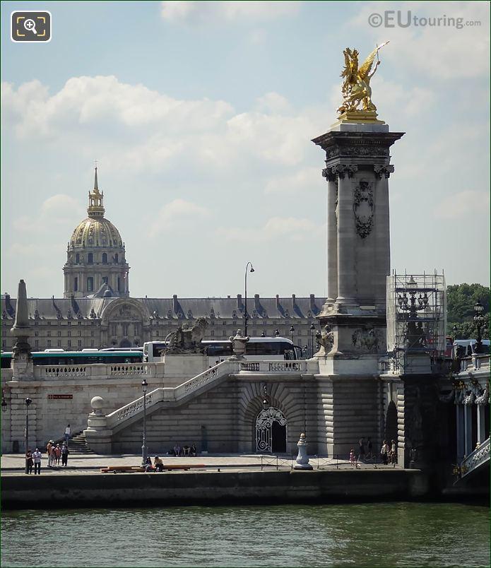 River Seine Flowing By Port Des Invalides