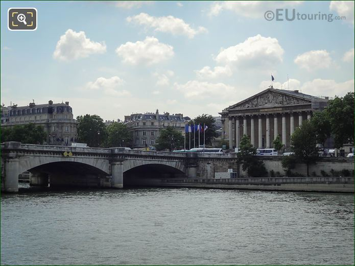 Assemblee Nationale Building And The River Seine