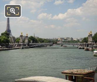 Pont Alexandre III Over The River Seine
