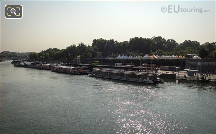 Port De La Bourdonnais On The River Seine