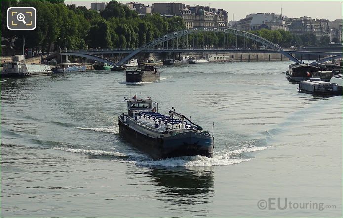 River Seine Commercial Cargo Boats