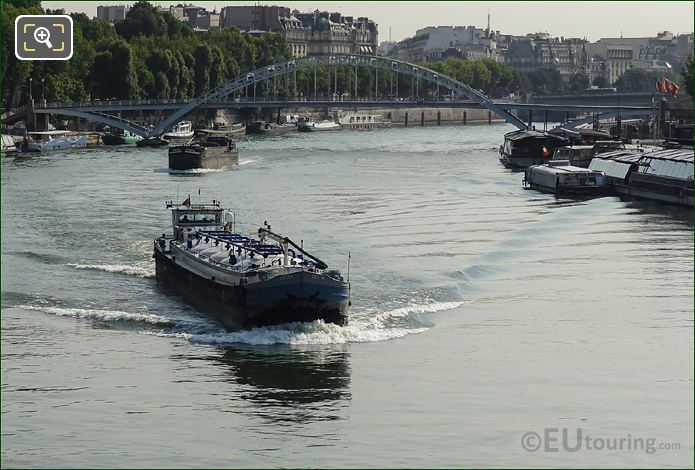 Cargo Barges On The River Seine