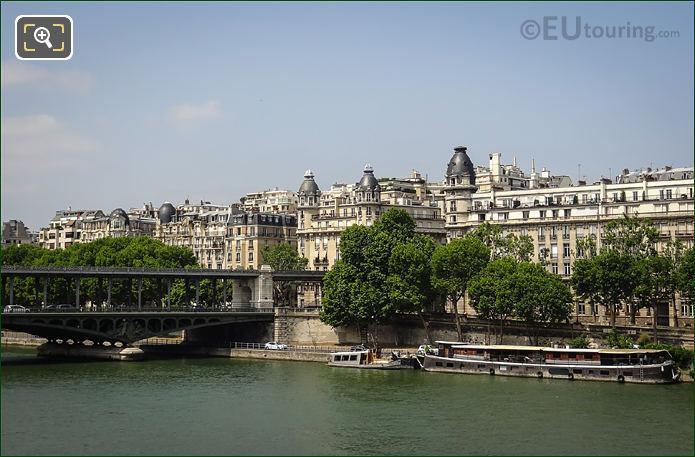 River Seine And Voie Georges Pompidou Paris