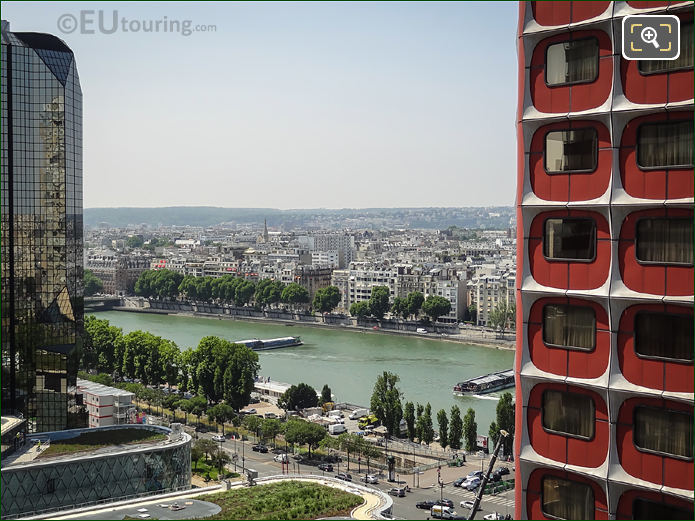 River Seine And High Rise Buildings