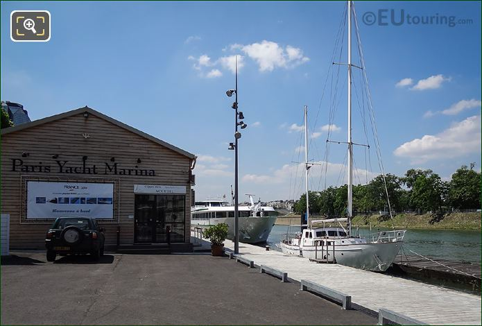 The Paris Yacht Marina And River Seine