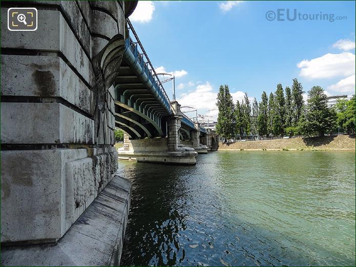 River Seine And Pont Rouelle In Paris