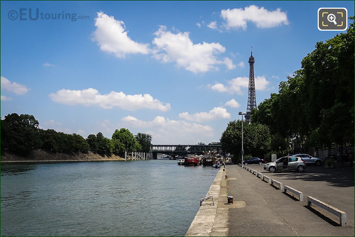 Port De Grenelle And The River Seine