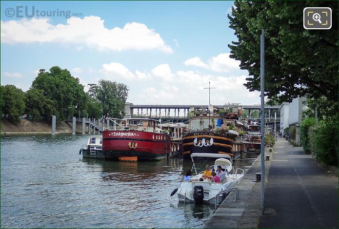 River Seine And Private Pleasure Craft