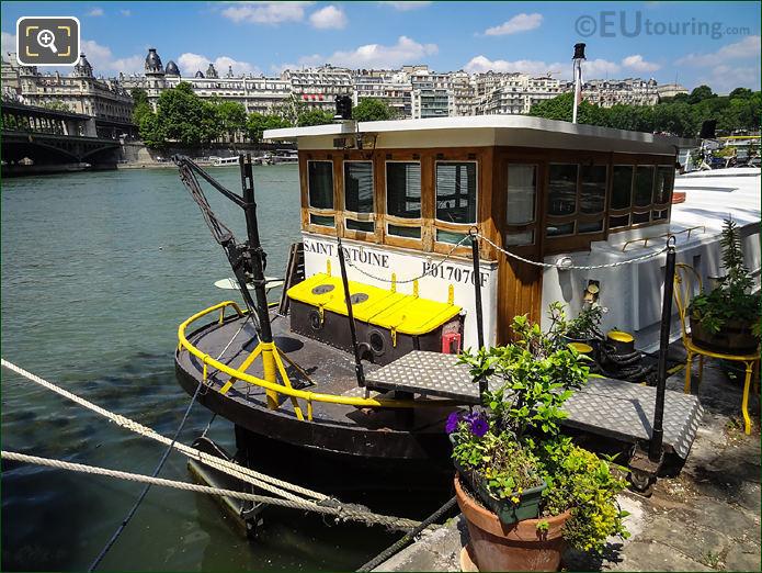 Saint Antoine Houseboat Paris