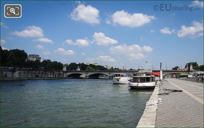 Port De Suffren And The River Seine Paris