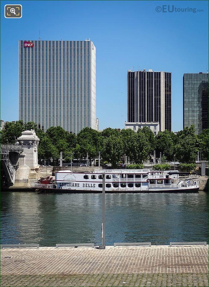 SNCF Building With The River Seine Paris
