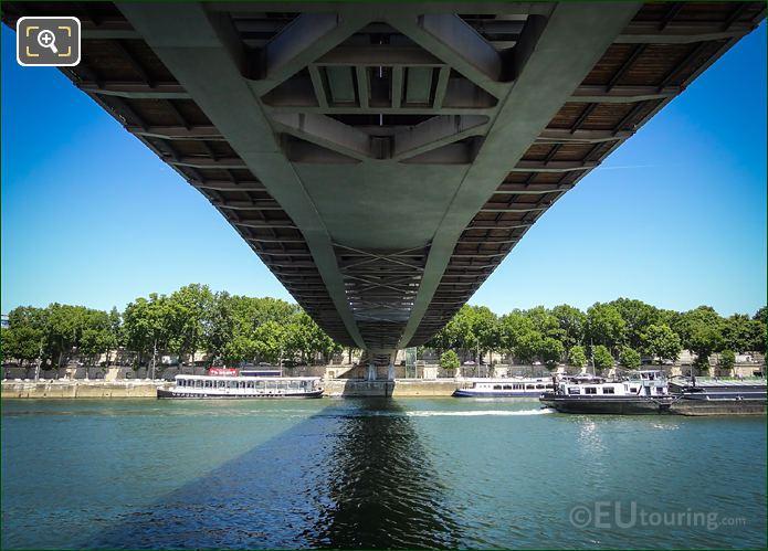 River Seine And Passerelle Simone De Beauvoir