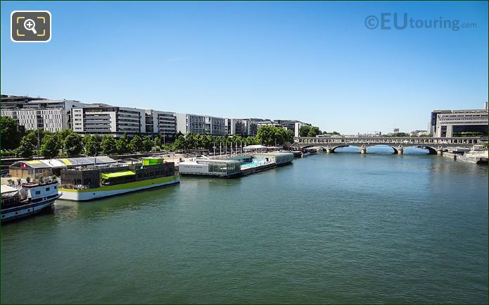 Aerial View Of River And Pont De Bercy