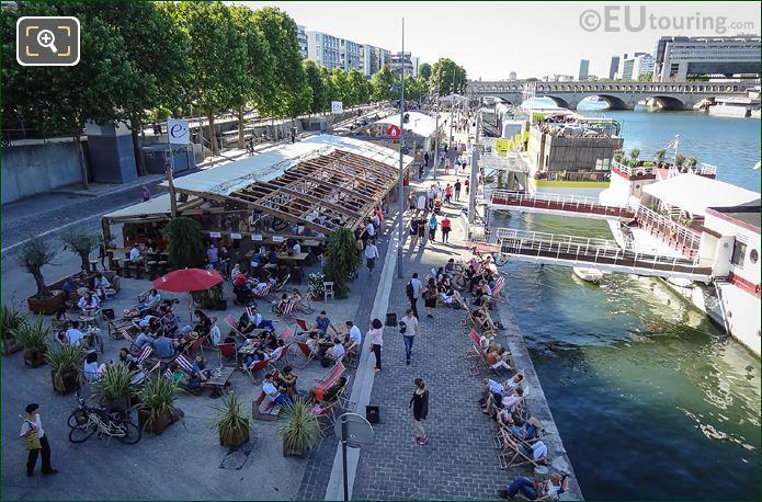 Port De La Gare Along The River Seine
