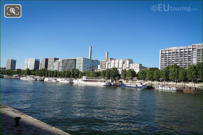 River Seine And Port De La Rapee Paris