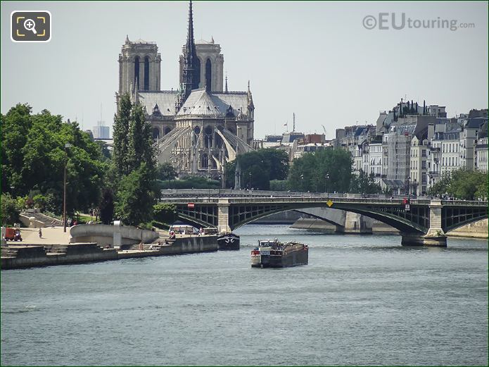 River Seine With Notre Dame Cathedral