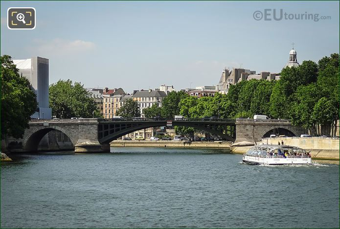 River Seine And Pont Sully In Paris