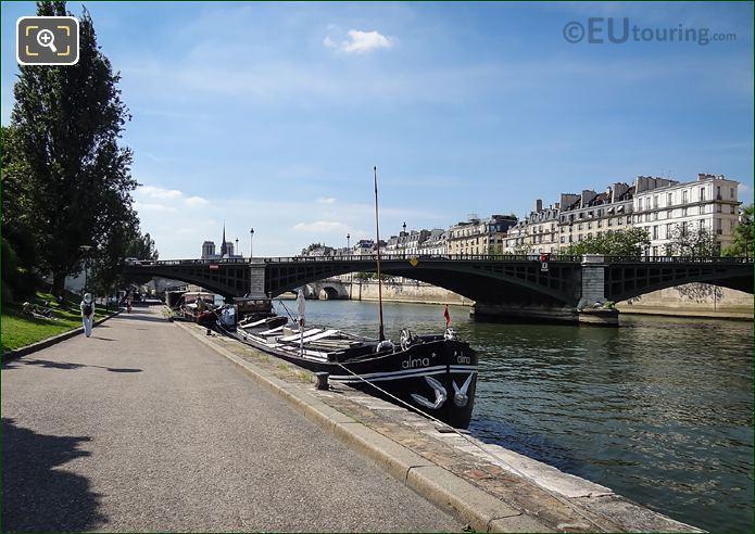 Alma Houseboat Quais De Jussieu River Seine