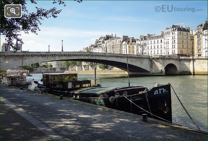 River Seine And Ark Barge