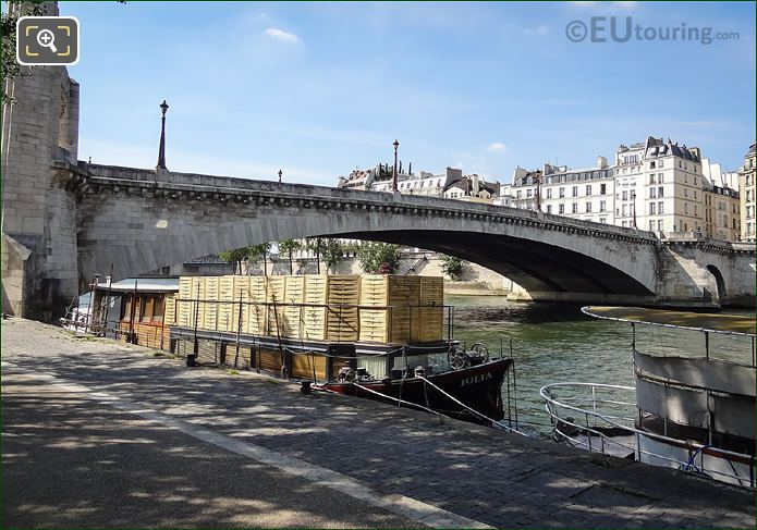 Julia Houseboat Moored On The River Seine Paris