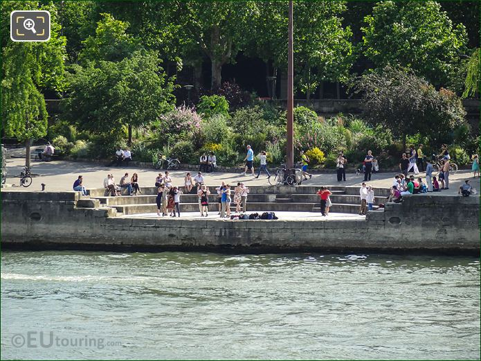 Dancers Next To The River Seine