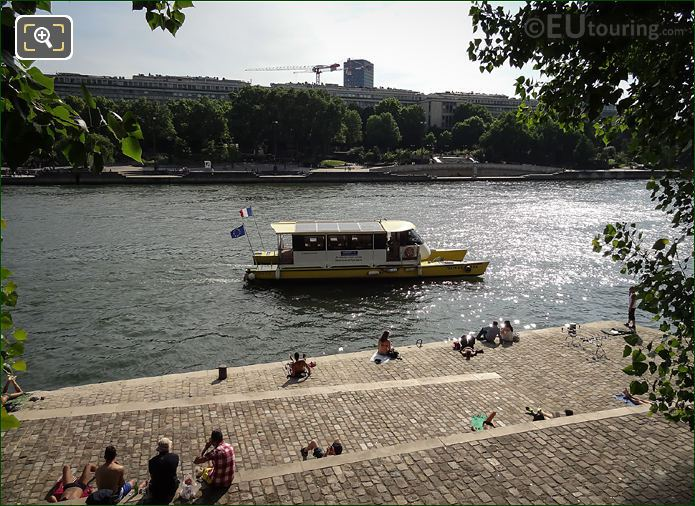 Batostar Boat On River Seine Paris