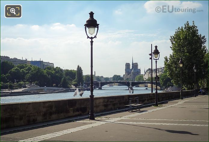 River Seine Viewed From Esplanade De Villes