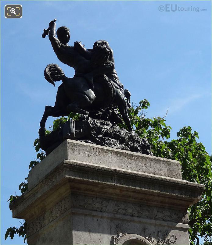 Square Barye Bronze Statue