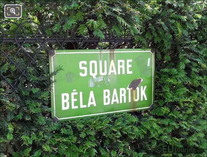 Square Bela Bartok In Paris