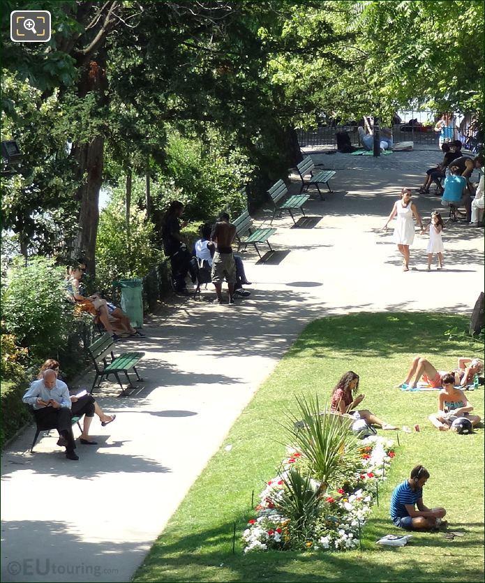 Tourist Enjoying Square Du Vert Galant