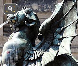 Statue at Fontaine Saint Michel