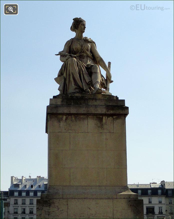 Pont Du Carrousel Industry Statue