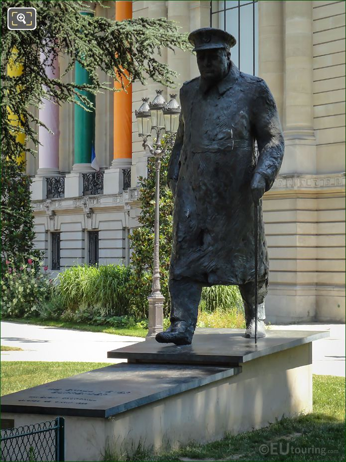 Bronze Winston Churchill Statue Petit Palais Paris