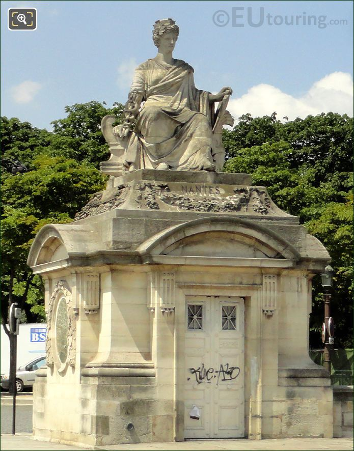 Statue City Of Nantes At Place De La Concorde