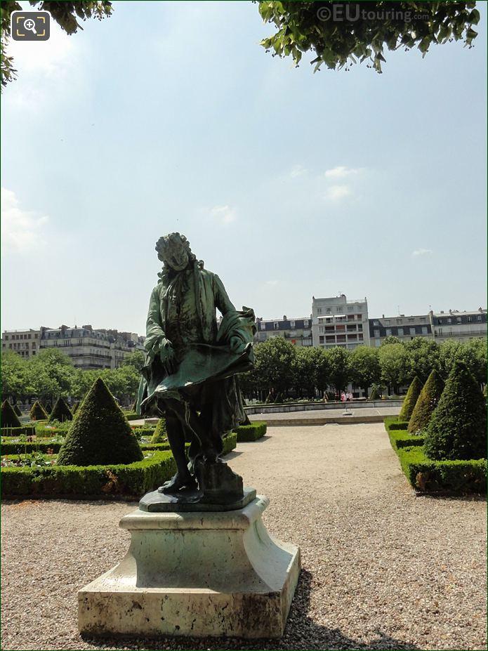 Bronze Statue Of Jules Hardouin Mansart At Hotel Des Invalides