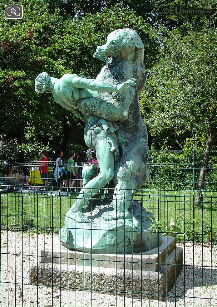 Emmanuel Fremiet Denicheur d Oursons Statue