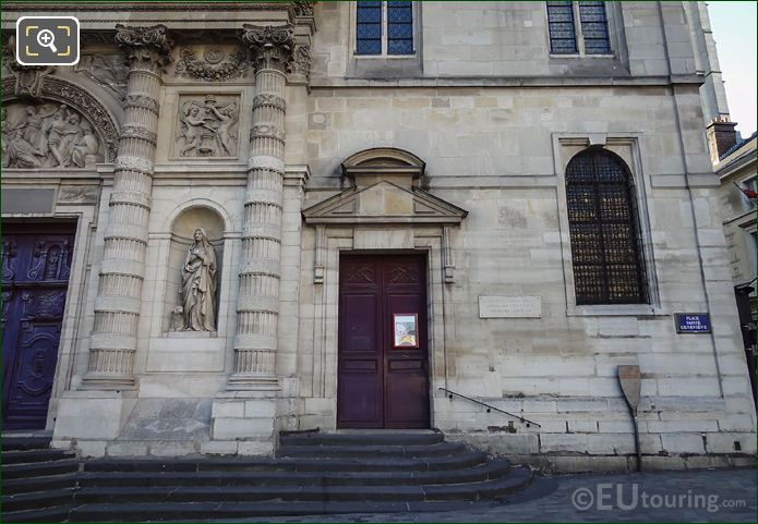 Eglise Saint Etienne Du Mont Facade Saint Genevieve