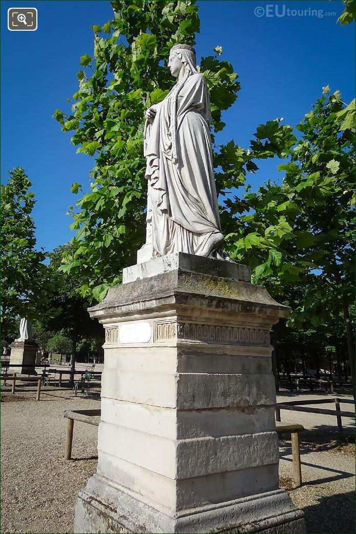 Luxembourg Gardens 1847 Statue Sainte Clotilde