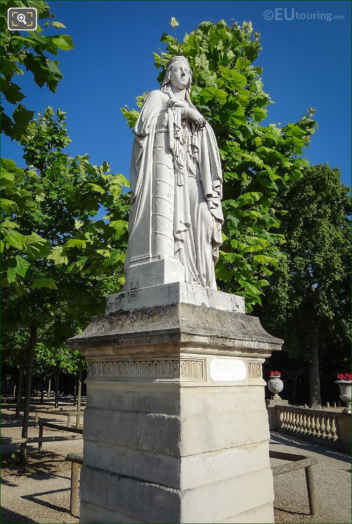 1847 Sainte Clotilde Queen Of France Statue