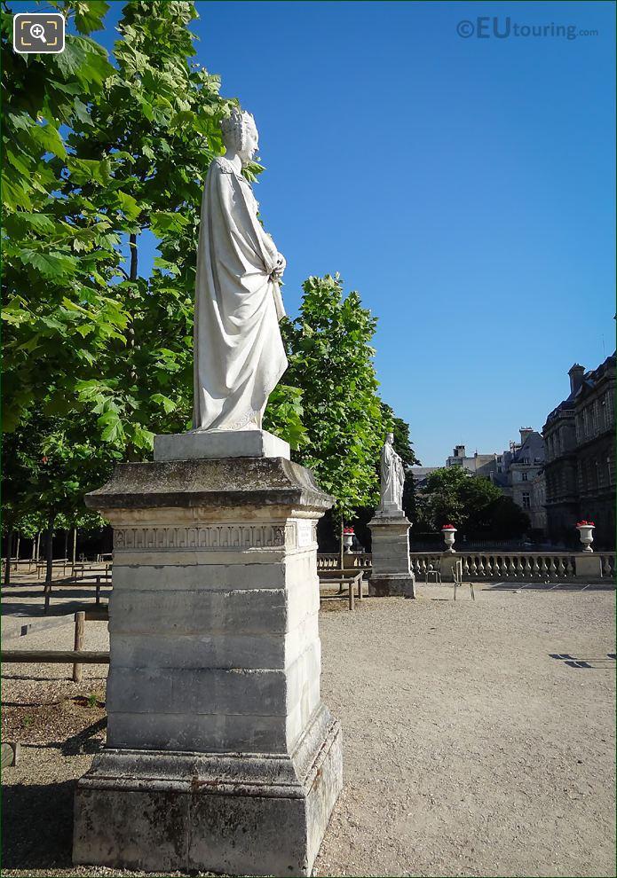 1847 Marble Statue Of Marguerite De ProvenceX